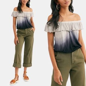 Free People | Cora Lee Ombre Flounce Top sz S